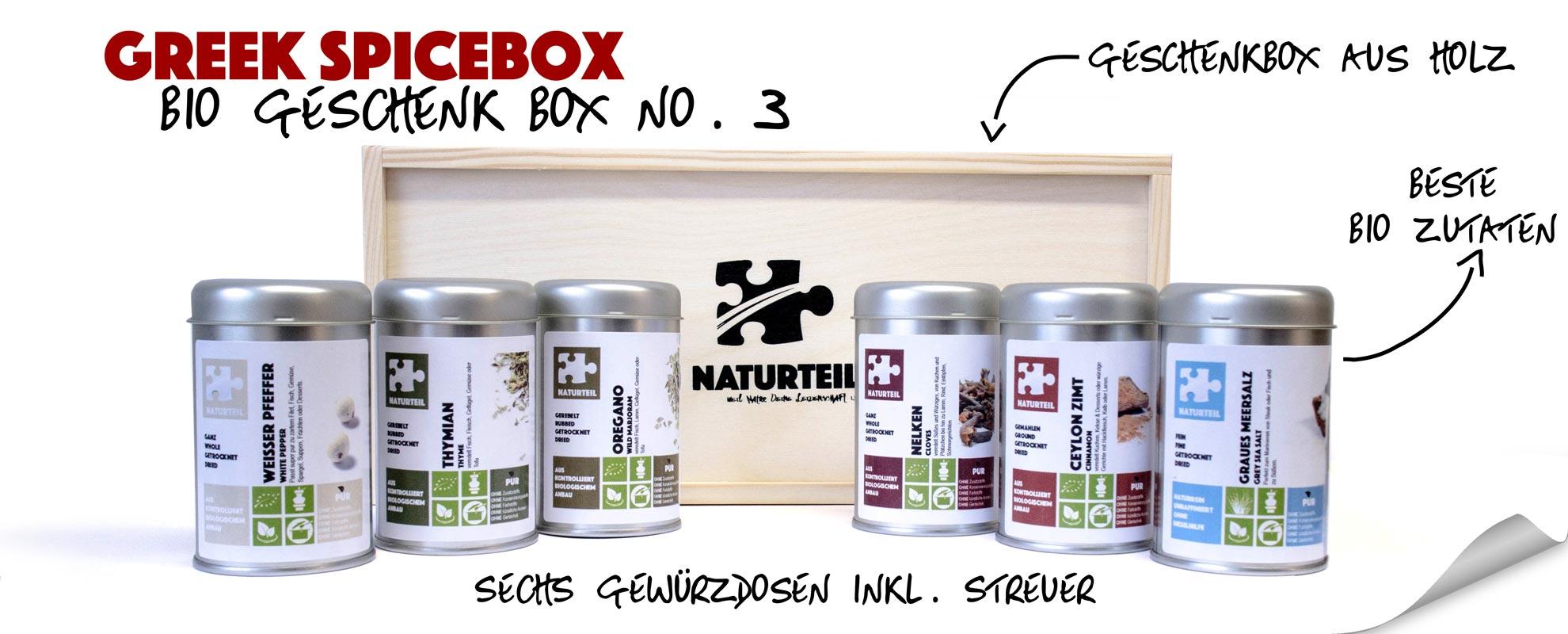 Naturteil Geschenke - bio greek spice box
