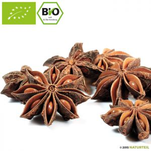 Organic whole Star Anise in Spice jar