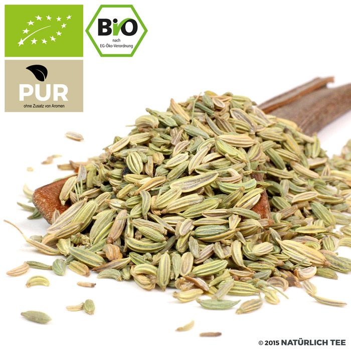 Organic Fennel Seeds Sweet whole in spice jar - Naturteil