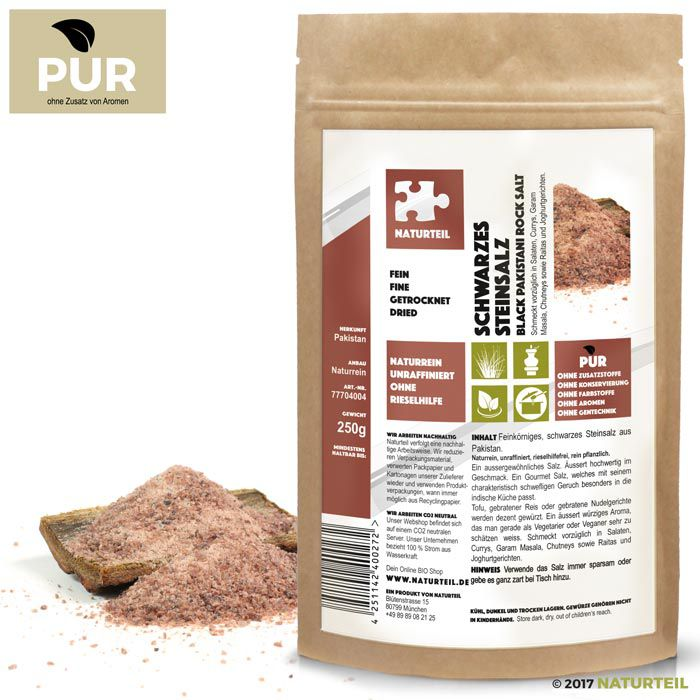 Black Pakistani Rock Salt fine 250g