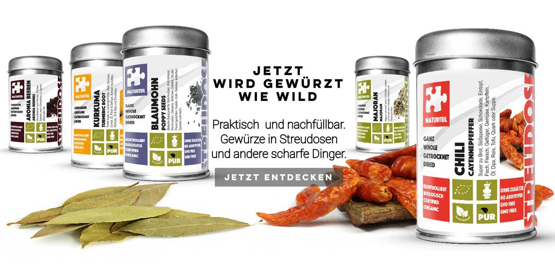 Gewürze & Kräuter online kaufen | Naturteil ®
